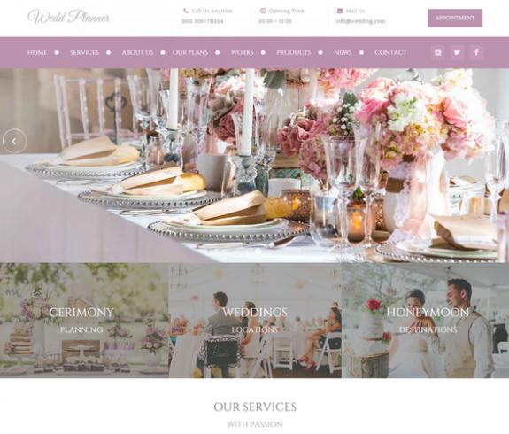 Wedding Planner - NicDarkThemes.com